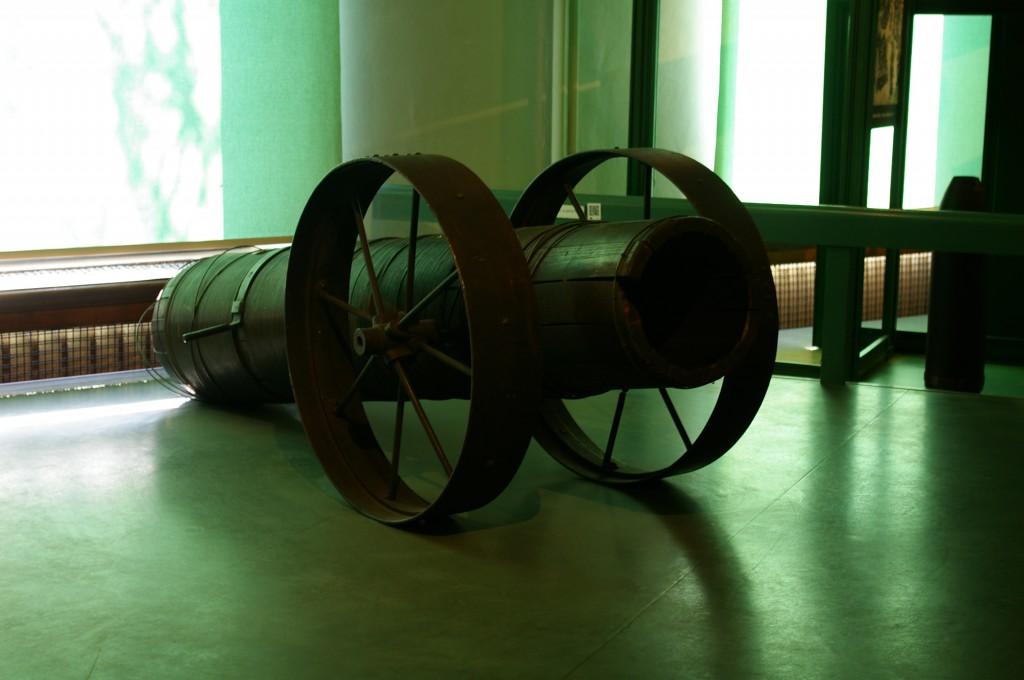 I-ojo Pasaulinio karo ginklai: medinė patranka